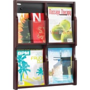 Safco 6-Pocket Solid Wood Magazine/Pamphlet Display, Mahogany
