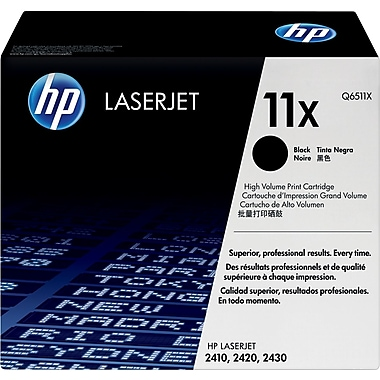 HP 11X (Q6511X) Black High Yield Original LaserJet Toner Cartridge