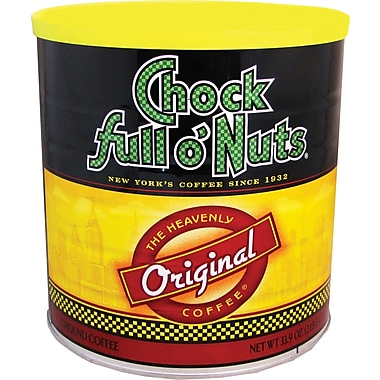 Chock full o' Nuts Original Roast Ground Coffee, Regular, 33.9 oz. Can