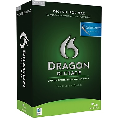 Dragon Dictate for Mac with Bluetooth Headset [Boxed]