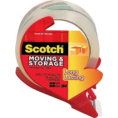 Scotch® Mailing and Storage Tape w/ Dispenser, Clear, 1.88in. x 38 yds, Each