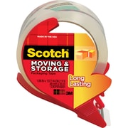 Scotch® Mailing and Storage Tape w/ Dispenser, Clear, 1.88 x 38 yds, Each