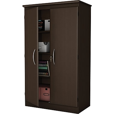 South Shore Storage Armoire, Chocolate Maple