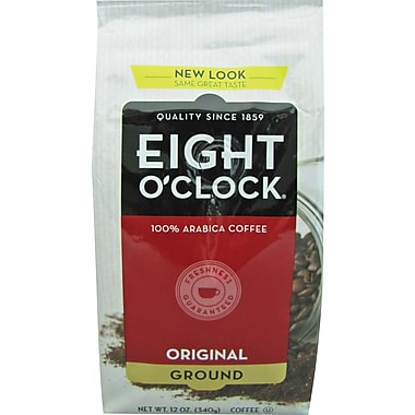 Eight O'Clock Original Roast Ground Coffee, Regular, 12 oz. Bag