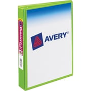 1 Avery® 5-1/2 x 8-1/2 Durable Mini View Binder with Round Rings, Chartreuse