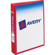 1 Avery® 5-1/2 x 8-1/2 Mini View Binder with Round Rings,  Red