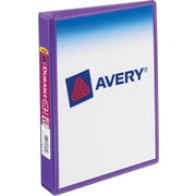 "1"" Avery® 5-1/2"" x 8-1/2"" Mini View Binder with Round Rings, Purple"