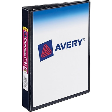 1in. Avery® 5-1/2in. x 8-1/2in. Mini View Binder with Round Rings, Black