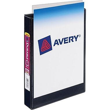 1/2in. Avery® 5-1/2in. x 8-1/2in. Mini View Binder with Round Rings, Black