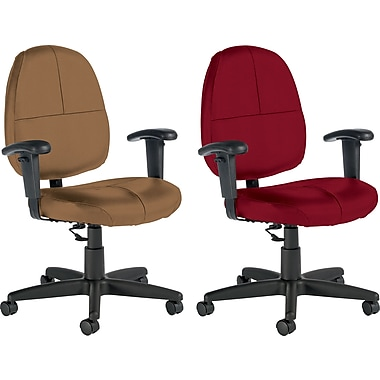 Global® Custom Leather Task Chair with Arms