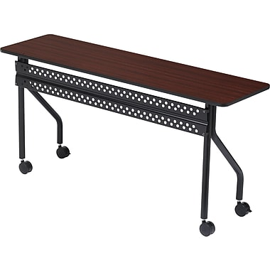 Iceberg OfficeWorks 60'' Rectangular Mobile Training Table, Mahogany (68058)