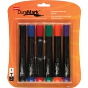Staples® Permanent Marker, Chisel Tip, Assorted, 6/Pack