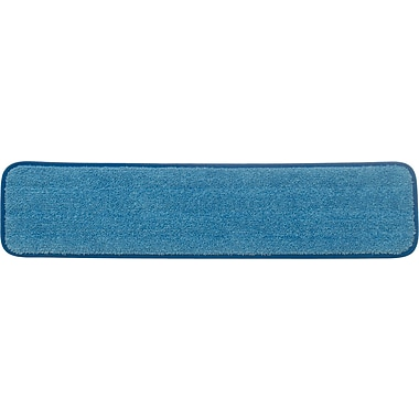 Rubbermaid HYGEN™ Microfiber Damp Mop Pad, Wet, Blue, 24in.