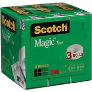 "Scotch® Magic™ Tape 810, 3/4"" x 800 in, 3/Pack"