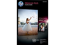 HP Premium Plus Photo Paper, 4' x 6', Borderless, High Gloss, 100/Pack