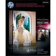 "HP Premium Plus Photo Paper, 8 1/2"" x 11"", Soft Gloss, 25/Pack"