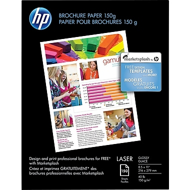 HP® Colour Laser Brochure Paper, 8-1/2
