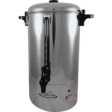 Coffee Pro Commercial 36-Cup Percolator, Stainless Steel