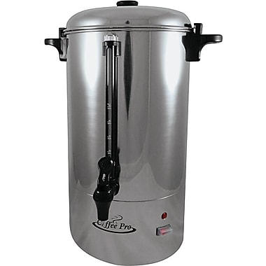 Coffee Pro Commercial 80-Cup Percolator, Stainless Steel