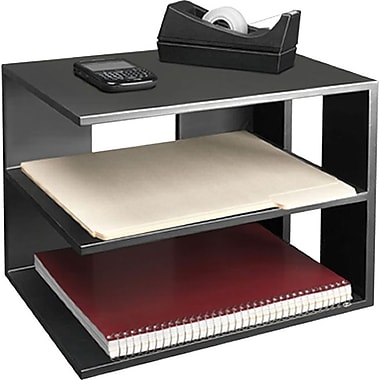 Victor wood desk accessories corner shelf midnight black staples - Storage staples corner ...