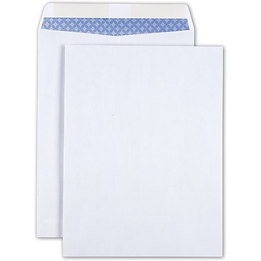 Staples Gummed Wove Catalog Envelopes, White, 25/Pack (579712/19573)