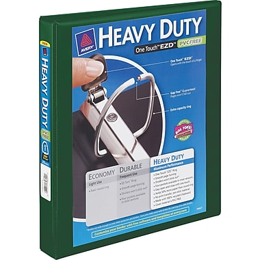 1in. Avery® Heavy-Duty View Binder with One Touch™ EZD® Rings, Green