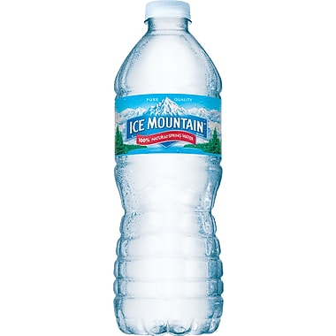 Ice Mountain Bottled Spring Water, 16.9 oz. Bottles, 24/Case
