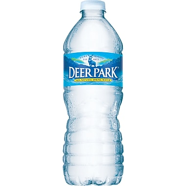 Deer Park Bottled Spring Water, 16.9 oz. Bottles, 24/Case