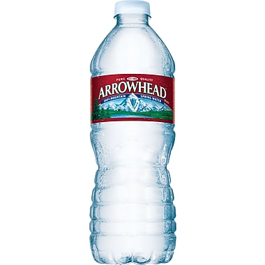 Arrowhead® 100% Mountain Spring Water, 16.9-ounce Plastic Bottle, 24/Box