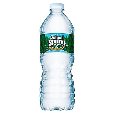 Poland Spring Bottled Water, 16.9 oz. Bottles, 24/Case