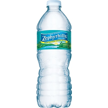 Zephyrhills Bottled Spring Water, 16.9 oz. Bottles, 24/Case