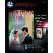"HP Premium Plus Photo Paper, 8 1/2"" x 11"", Glossy, 25/Pack"