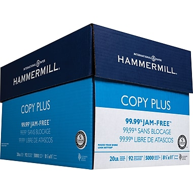 HammerMill® Copy Plus Copy Paper, 8 1/2in. x 11in., Case