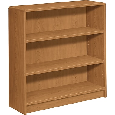HON® 1890 Series Wood Laminate Bookcase, 3-shelf, Harvest