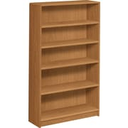 HON® 1890 Series Wood Laminate Bookcase, 5-Shelf, Harvest