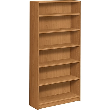 HON® 1890 Series Wood Laminate Bookcase,6-Shelf, Harvest