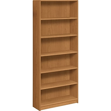 HON® 1890 Series Wood Laminate Tall Bookcase, 6-shelf, Harvest
