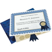 "Geographics® Certificate Kit, Blue, 8 1/2"" x 11"", Each (47404)"