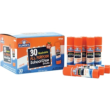 Elmer's Clear Glue Stick Class Pack, .24oz, 30/Pack
