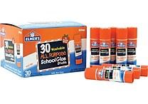 Elmer's Clear Glue Stick Class Pack, .24oz, 30/Pack