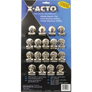 "Bulldog Magnetic Clips, Steel, 1-1/4""w, Nickel-Plated, 18/Box"