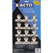 "X-ACTO® Bulldog® Magnetic Clips, #2, 2 1/4"" Wide, 1/2"" Capacity, SR, 12/Pk"