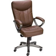 Staples Finsbury Bonded Leather Mid-back Chair, Brown