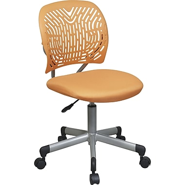 Office Star SpaceFlex Adjustable Mesh Task Chair, Armless, Orange