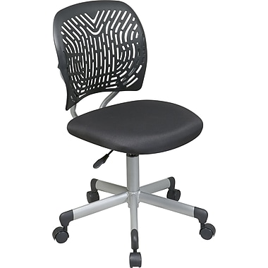 Office Star™ SpaceFlex w/ Mesh Seat Task Chair, Black