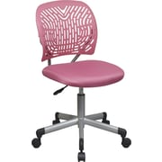 Office Star™ Fabric Computer and Desk Office Chair, Pink, Armless Arm (166006-355)