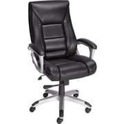 Staples® Karston™ Bonded Leather Managers Mid-Back Chair, Black