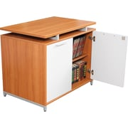Regency® OneDesk Collection Storage Cabinet, Amber/White Finish
