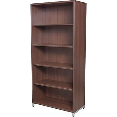 Regency® OneDesk Collection 5 Shelf Bookcase, Java Finish
