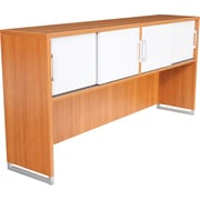 Regency® OneDesk Collection Hutch with Sliding Doors, Amber/White Finish